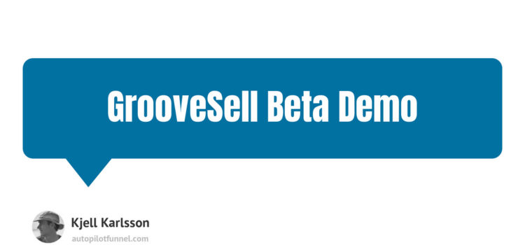 GrooveSell Beta Demo